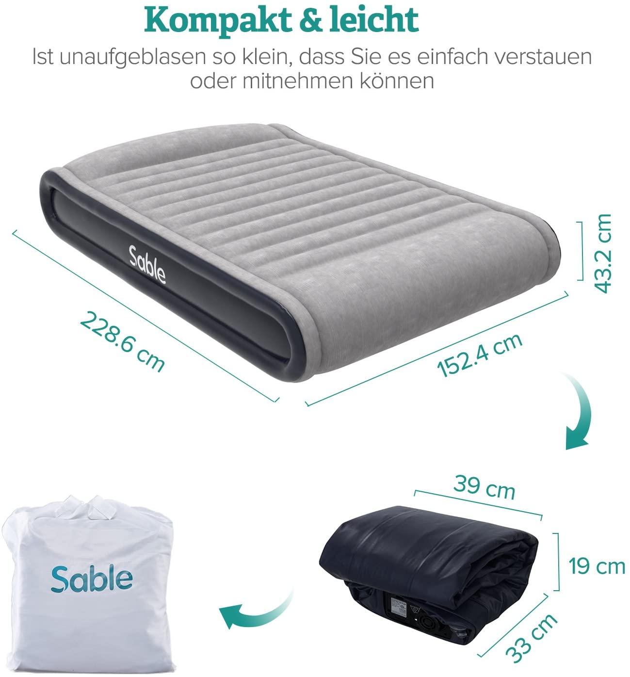 Aufblasbares Luftbett (Sable) Maße