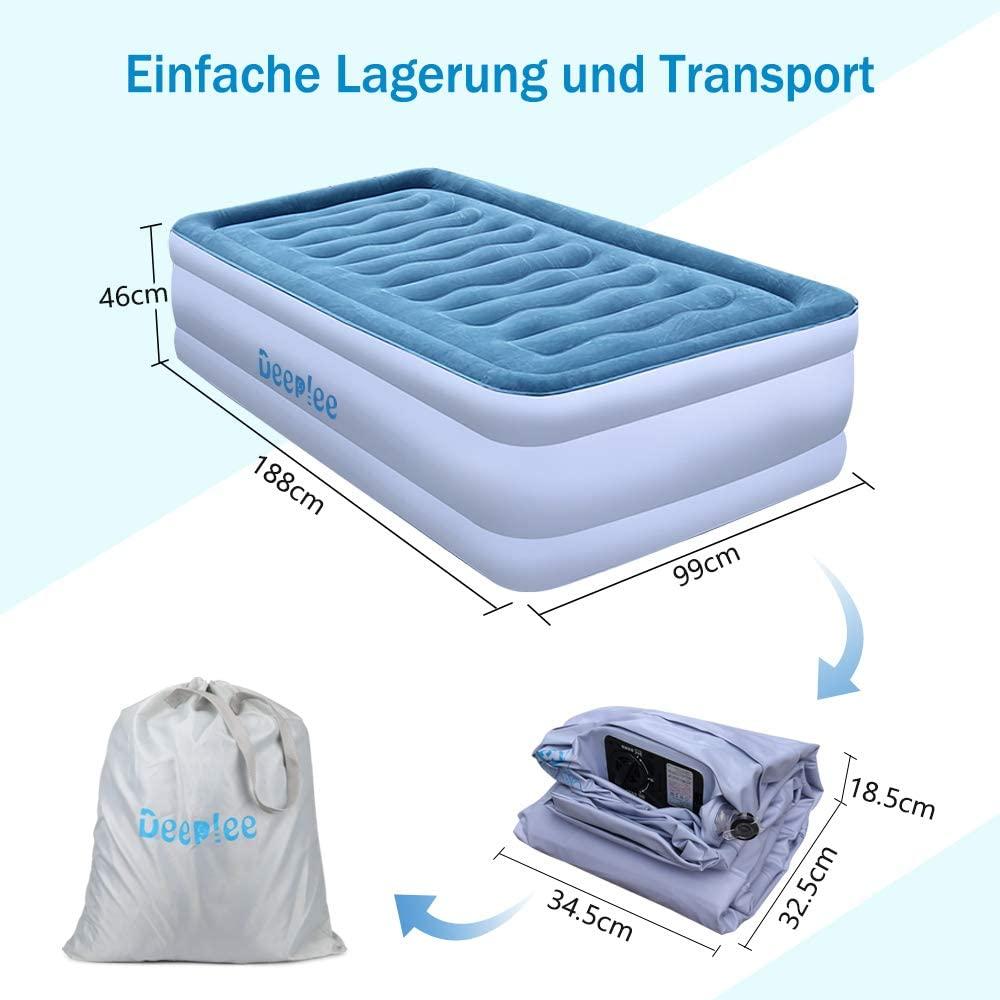Deeplee Einzel Luftbett einfacher Transport